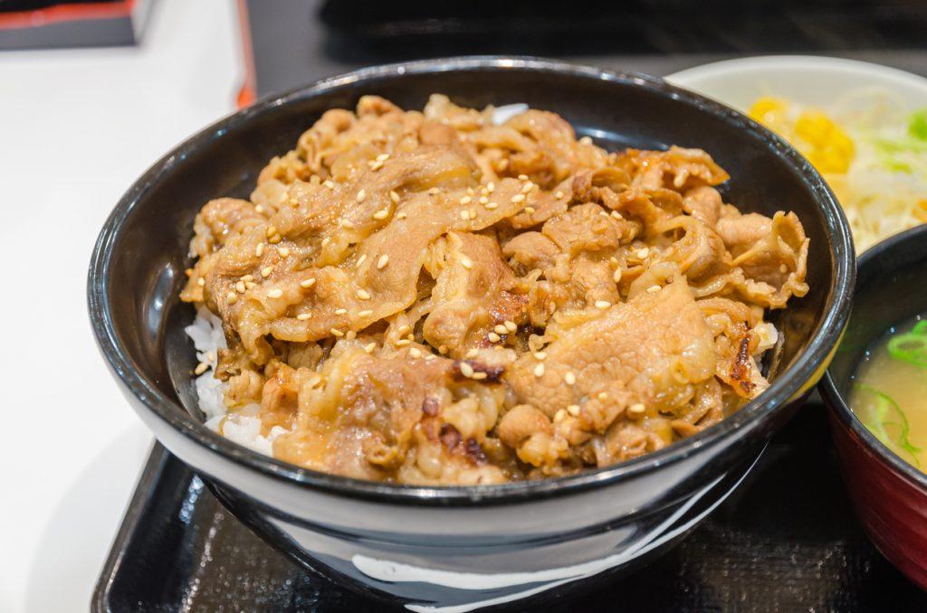 chinatown london - Japanese beef rice (Gyu don)