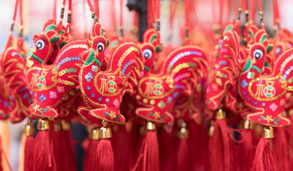 伦敦中国城-鸡年春节装饰