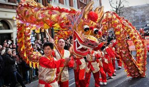 chinatown london-chinese new year dragon dance