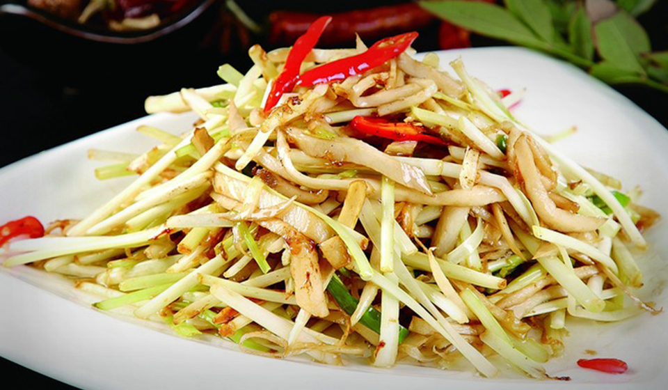 shredded pork stir fry
