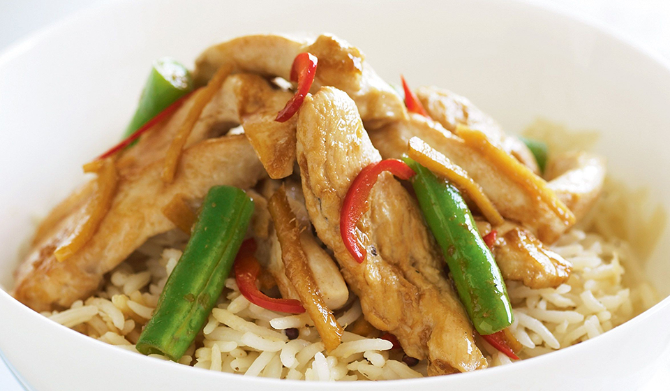 Sizzling ginger chicken stir fry recipe chinatown london ginger chicken stir fry chinatown london forumfinder Choice Image