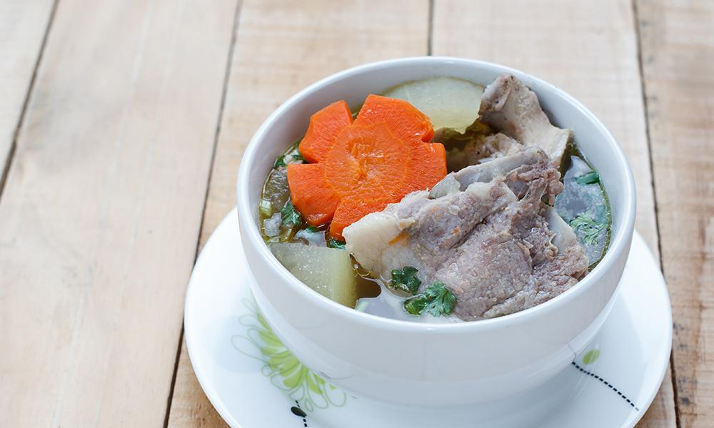 Winter melon soup with pork ribs - Jinli